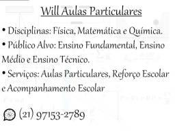 Aulas particulares de Física, Química e Matemática (Nível Médio, Técnico e Superior)