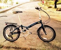 Bicicleta Dobrável 7 marchas alumínio 6061 aceito cartão Um Ano de Garantia de Fabrica