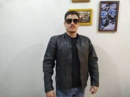 Jaqueta de Couro Motociclista