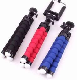 Mini Tripé Celular Flexível Portátil Apoio P/ Foto Filmagem