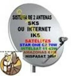 Antena Sky Completa Instalada