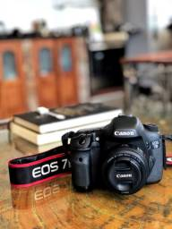 Canon 7D e lente 50mm 1.8