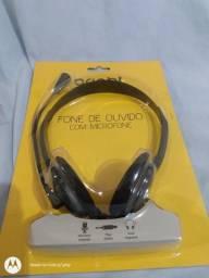 Heatseat c/fone ouvido/microfone p/notbook desktop celular etc nv.na embal.aceito cartão