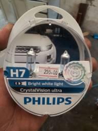 Lampada H7 Philips 4300k Cristal Vision Super Branca Crystal<br><br>