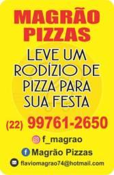 Rodízio  de  pizza  em  eventos  em geral