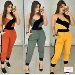 Conjunto Feminino Bengaline Calça e Blusa Alcinha - Mineiríssima Roupas & Calçados<br><br>