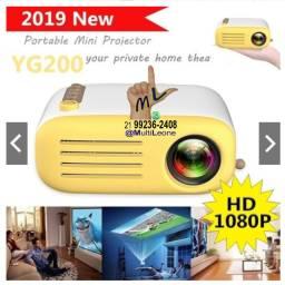 Mini projetor portátil mod YG200 HD 1080p HdMi Som Sd
