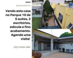 Vendo Casa no Parque 10 - Ideal para empresas - 5 Suítes