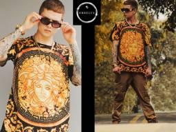 Camiseta Ostentação Medusa Gold24k Versace