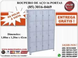 (85) 3016-0469 - Roupeiro de Aço 16 Portas para Vestiário