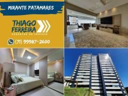 Mirante Patamares, 3 suítes com varanda gourmet, nascente, gabinete e dependência em 138m²