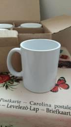 Kit 4 canecas brancas cerâmica