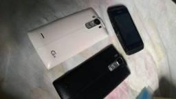 Tampa da bateria LG e celular nokia