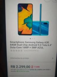 Estou vendendo esse celular Samsung Galaxy a30