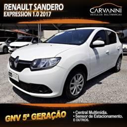 Renault Sandero Expression 1.0 2017 com GNV 5ª Geração