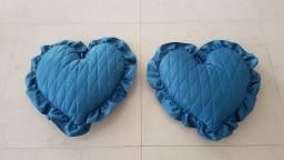 Almofadas em formato de coração
