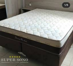 Conjunto Cama Box Sleep Pocket Ortosleep Queen Size 158x198 Mola Ensacada