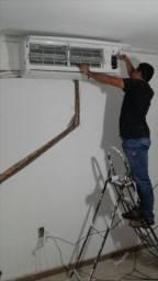 Ar condicionado incluso instalação