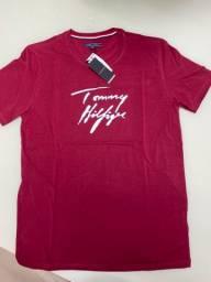 Camiseta Tommy bordo M