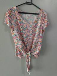 Blusa cropped floral LINDA tam36
