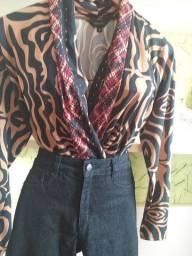 Bory e calça jeans Sawary