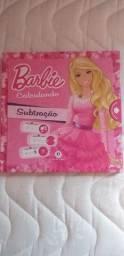 Livro novo ensinando subtração da Barbie