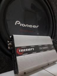 Caixa de som + potência - semi novos