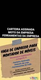 VAGA MONTADOR DE MÓVEIS