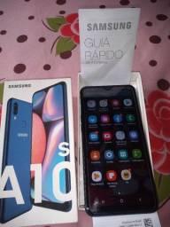 Troco ou Vendo Samsung Galaxy A10 S usado com todos os Acessorios ou troco por Iphone!!