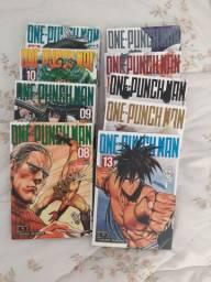 One Punch Man volumes 8 ao 10 e 12 ao 17 (9 volumes)