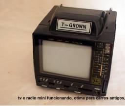 Tv pb, e radio mini, para veiculos