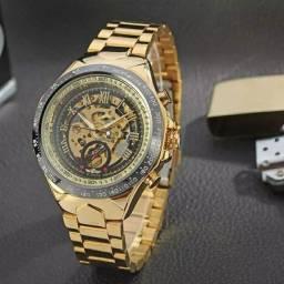 Relógio mecânico Gold masculino