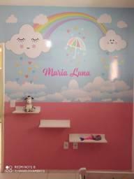 Papel de parede infantil personalizável