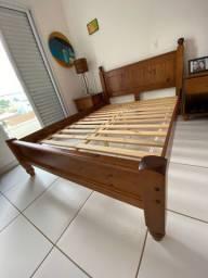 Cama de casal madeira maciça Imbuia