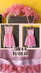 Vestido de festa - TAM 4-6