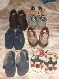 6 sapatinhos Usados