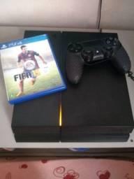 PS4 fat modelo preto fosco 1215a