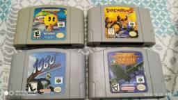 Lote: 1080° Snowboarding, Aerofighters, Mrs. Pac Man e Dual Heroes Nintendo 64