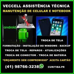 Assistência Técnica, Manutenção, Conserto de Celular, Notebook, Troca de Tela