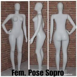 Manequim feminino pose 3 braços