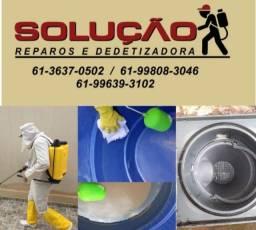 Dedetização residencial e limpeza de caixas d'água.