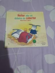 Livro Heitor não sai debaixo do cobertor