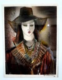 Obra de Arte Selma Weissmann, pintura só 490,00