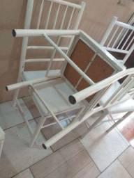 6 cadeiras reforçada ótima conservação Usada ___ entrego