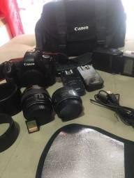 Vendo kit câmera Canon corpo , lentes Canon acessórios