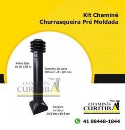 Título do anúncio: Kit Prolongador Chaminé Churrasqueira Pré Moldada Fabricada 200 mm Preta