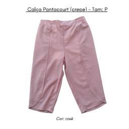 Calça Pantacourt Rosê - P