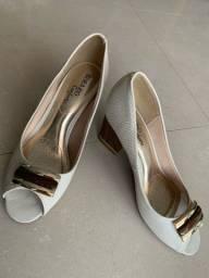 Sapato peep toe conforto beira rio 36