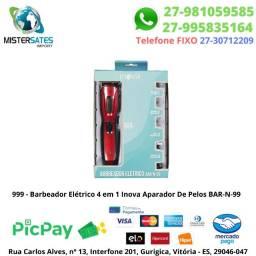 999 - Promoção - Barbeador Elétrico 4 em 1 Inova Aparador De Pelos BAR-N-99