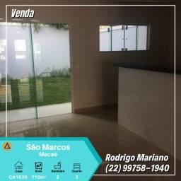 Vendo excelente casa com 03 quartos no São Marcos/Macaé-Rj